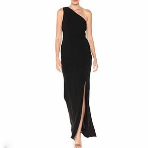 Laundry black one shoulder jersey gown!